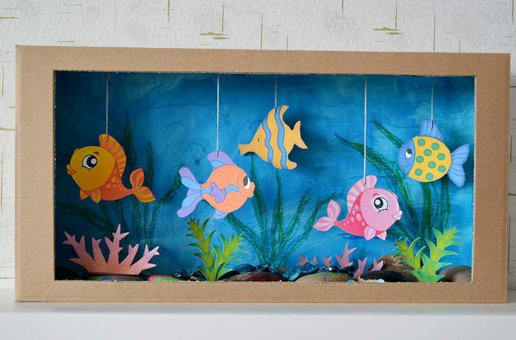 Как сделать аквариум с рыбами 651