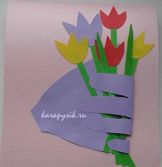 фотосъемки как сделать открытку из бумаги и картона маме на день это
