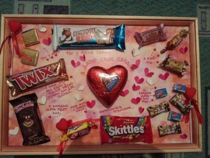 сладкий подарок на годовщину отношений парню