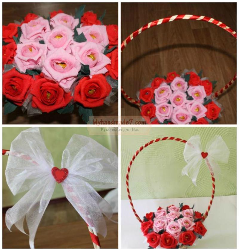 Как сделать сердце из роз своими руками пошаговое фото 100